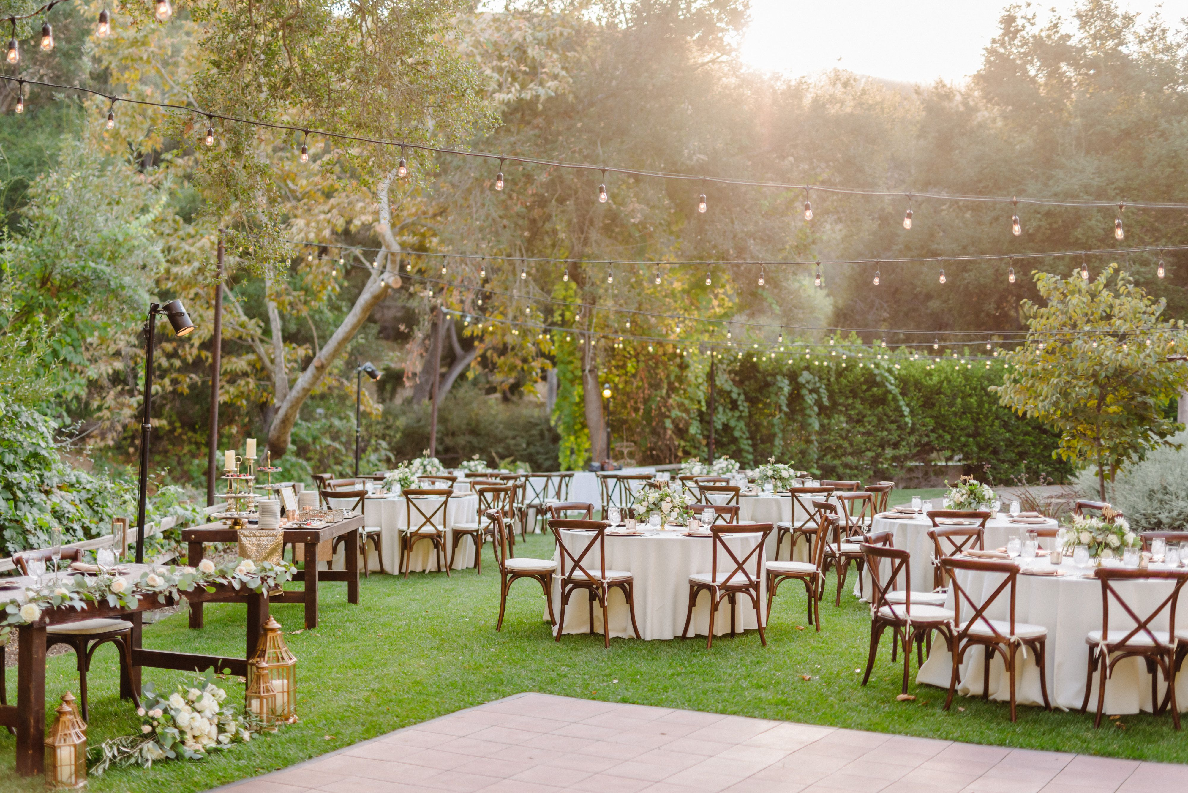 Spectacular setting for a garden reception! | San diego ...