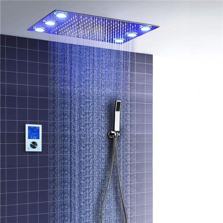 7色埋込形シャワー水栓 シャワーシステム サーモスタット付