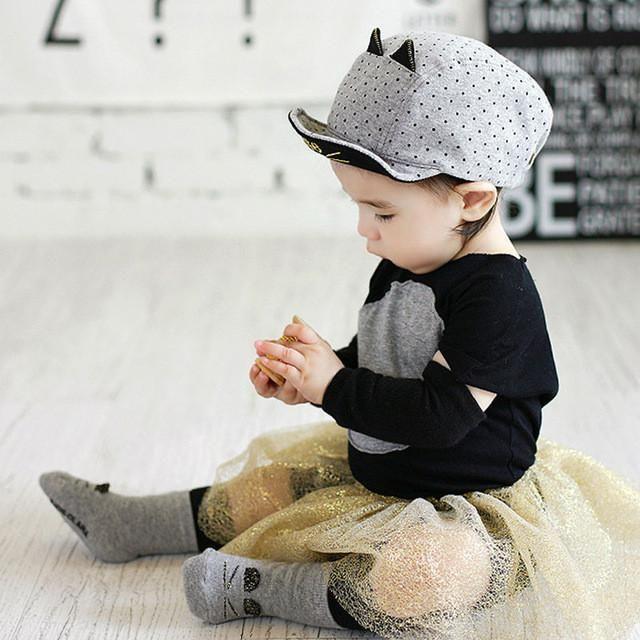 f1d4639531e Summer Baby Sun Hats Soft Brim Baseball Beret Cute Baby Cap Cat Ears Bonnet  Cotton Baby Outdoor Caps Boy Girl for 1-3Y baby