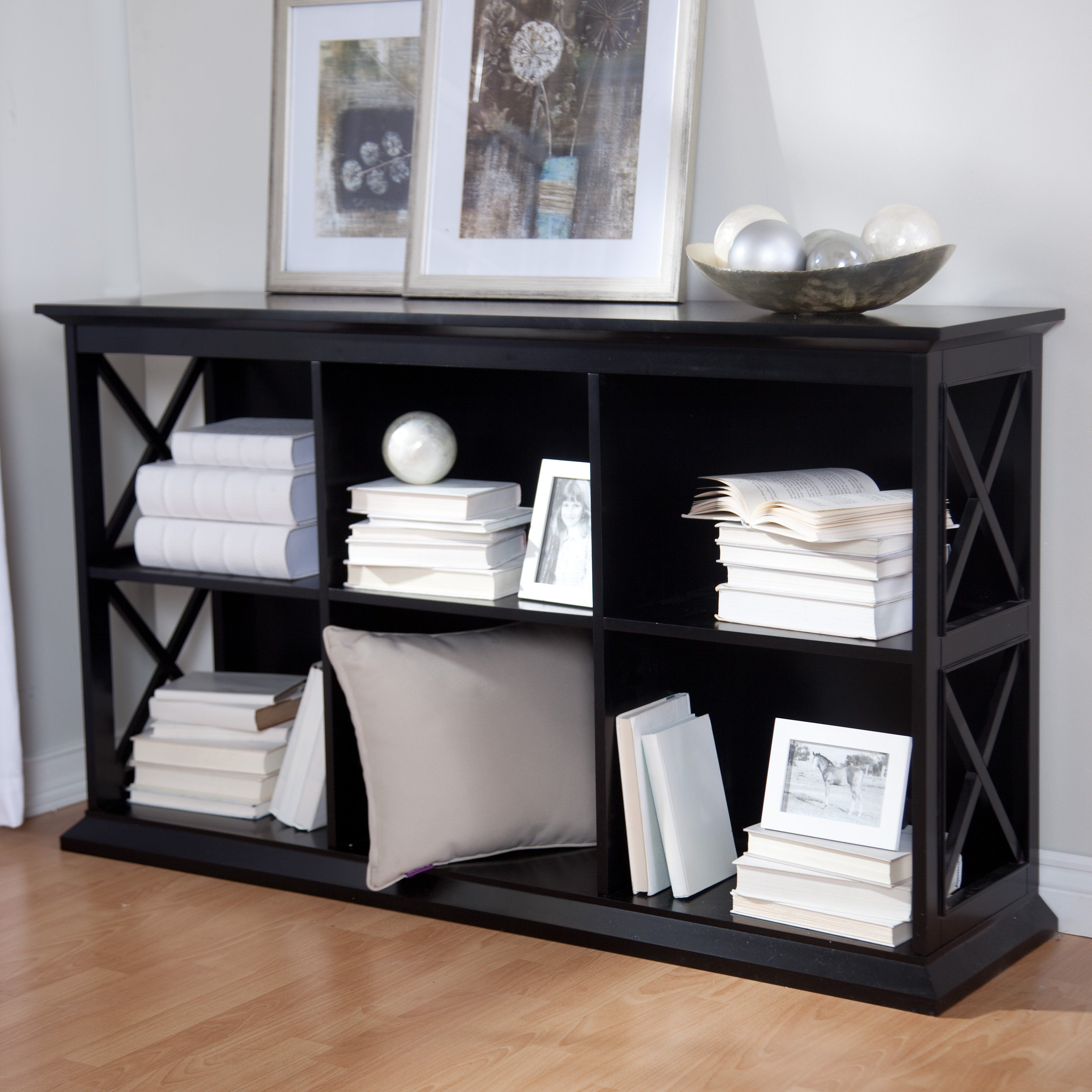 The Hampton Console Table Stackable Bookcase   Add Colorful Organizers From  The Container Store To Organize