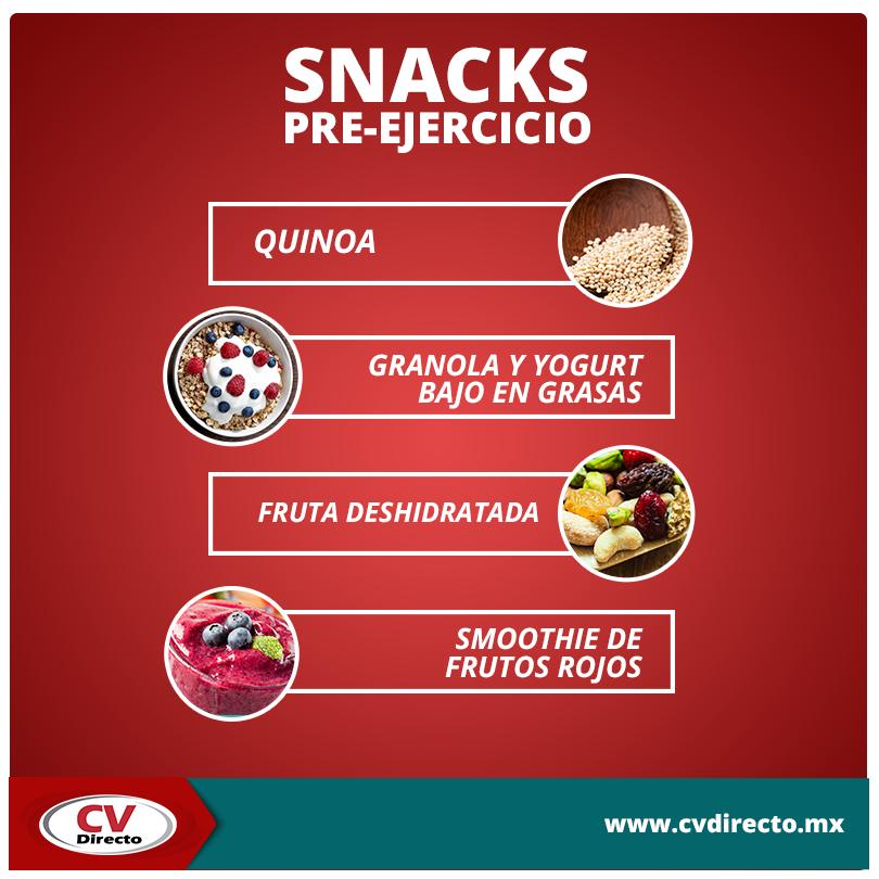 Te compartimos una lista de snacks preejercicio. ¡Te