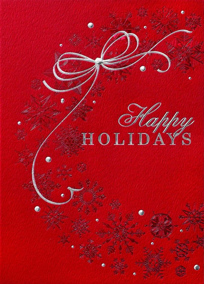 Radiant Red Wreath Christmas Card
