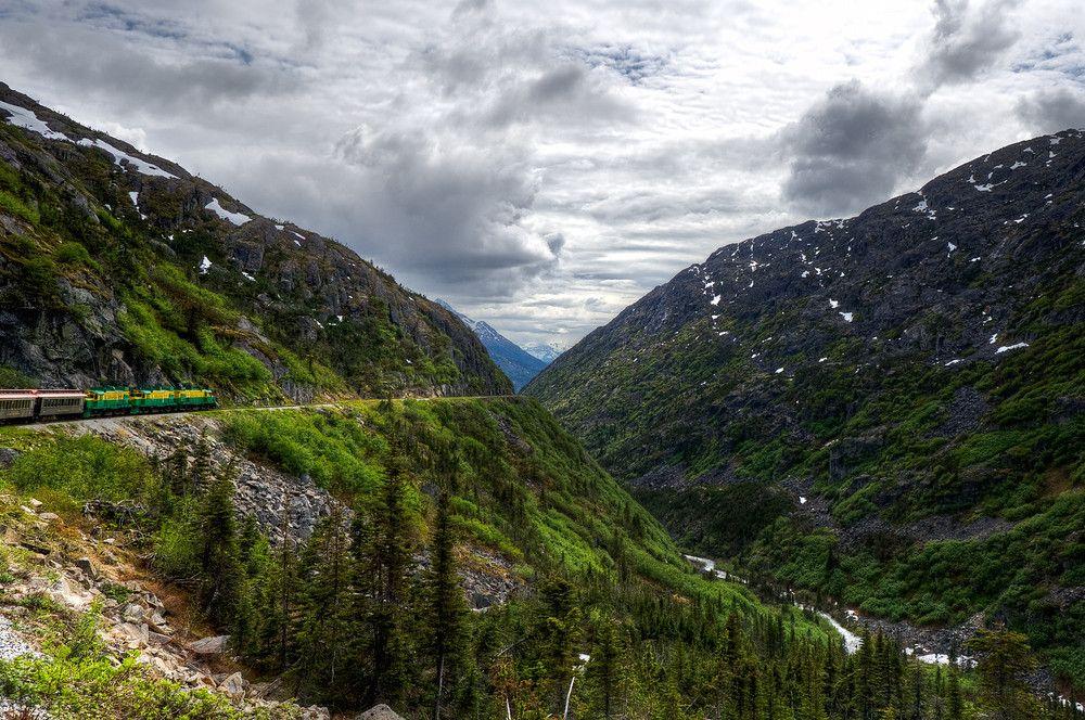 White P Yukon Route Railroad Outside Of Skagway Alaska