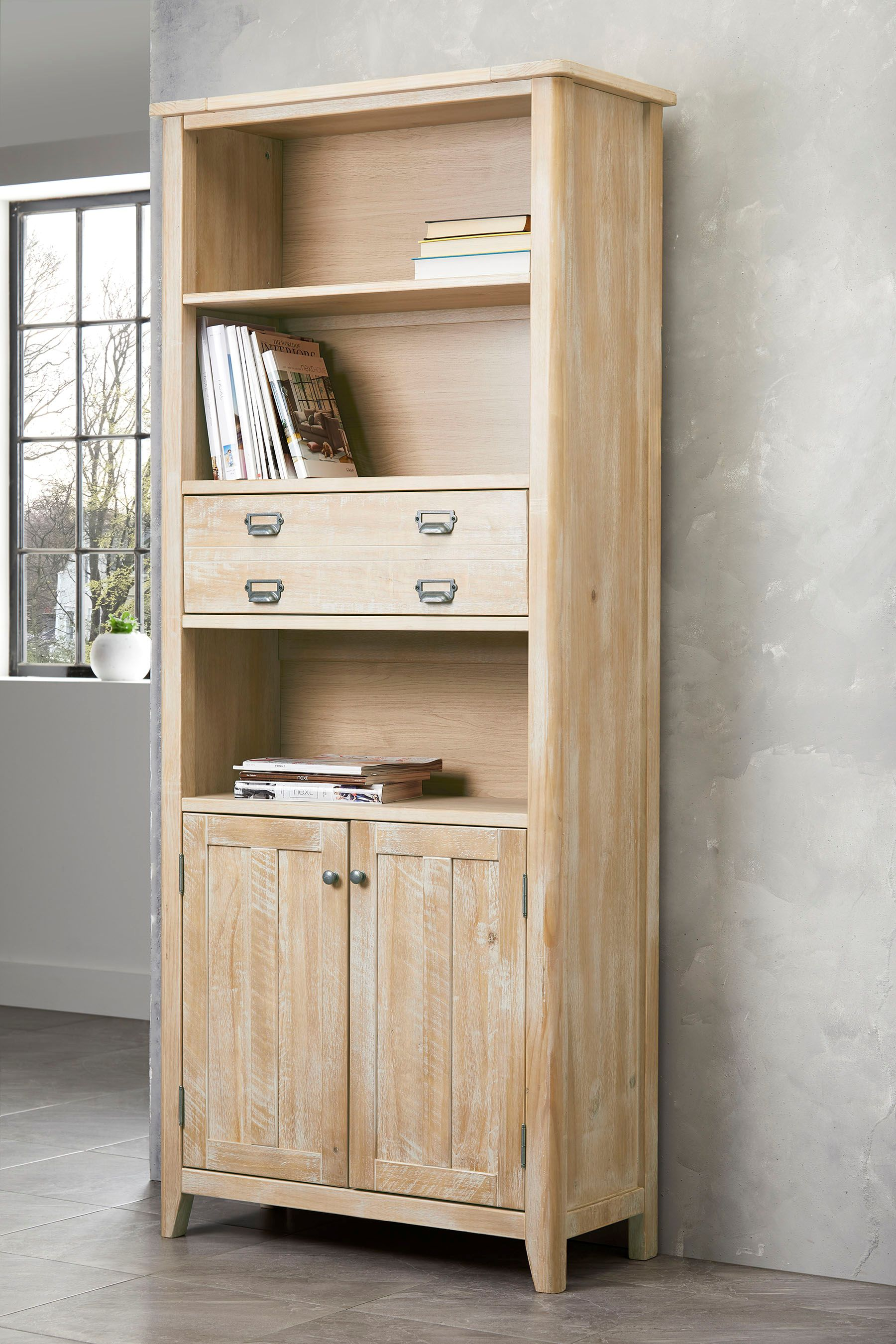 Next Huxley Bookcase Natural Mattress furniture