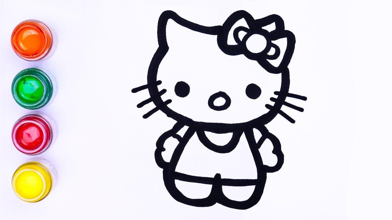 Menggambar Dan Melukis Mudah Hello Kitty Lukisan Untuk Anak Anak Balita Lukisan Mudah Hello Kitty Lukisan