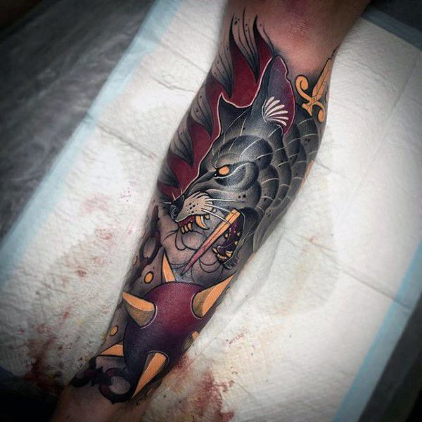 Neo Traditional Tattoo Half Sleeve