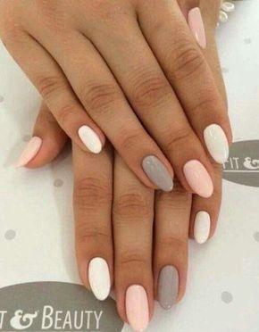 Beauty Pastels White Pink Grey Pink Grey Nails Summer Nails Colors Pastel Nails