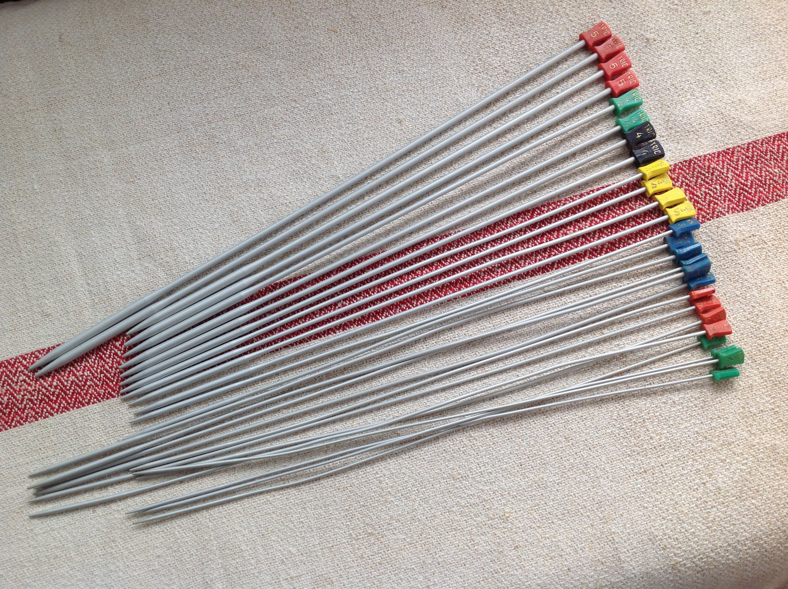 antique spinning needle collection wooden knitting needles