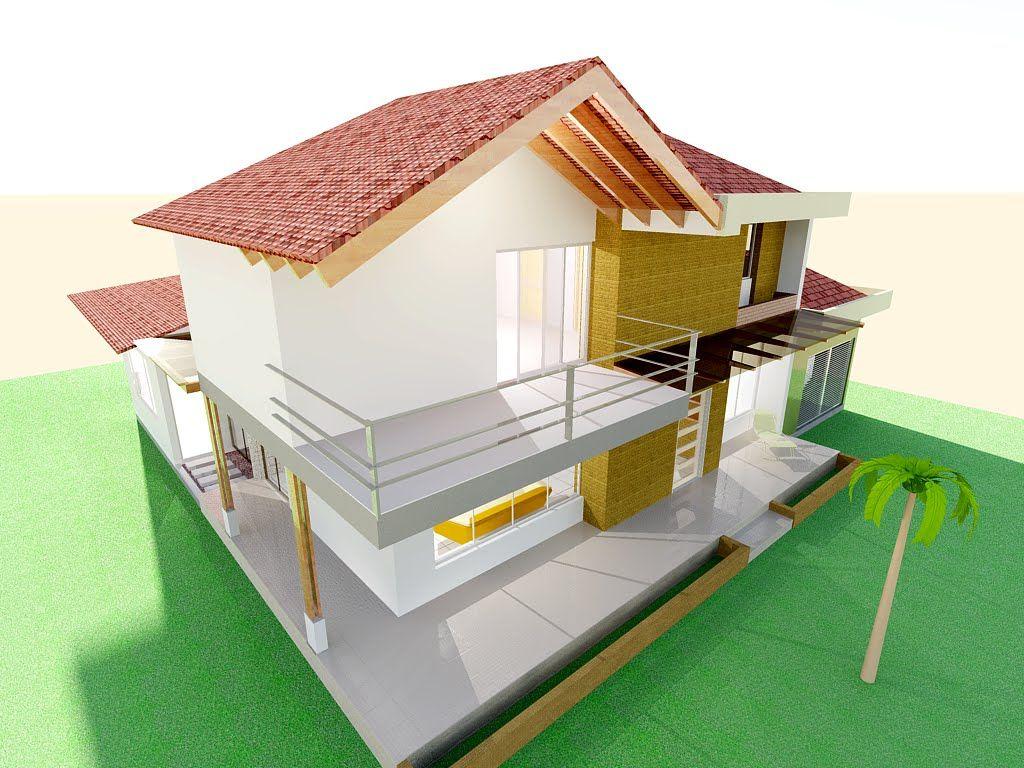 Planos Casa Campestre Moderna Techo A La Vista Listo