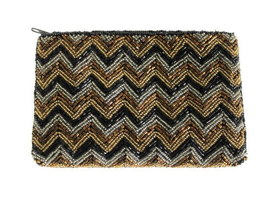 fe3a62fd1ae0 Vintage Neiman Marcus Beaded Evening Bag Coin Purse Makeup Bag Pouch ...