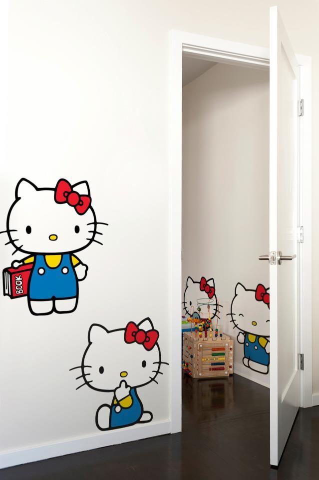 Decoracion02 Hello Kitty Art Wall Kids Fabric Wall Decor