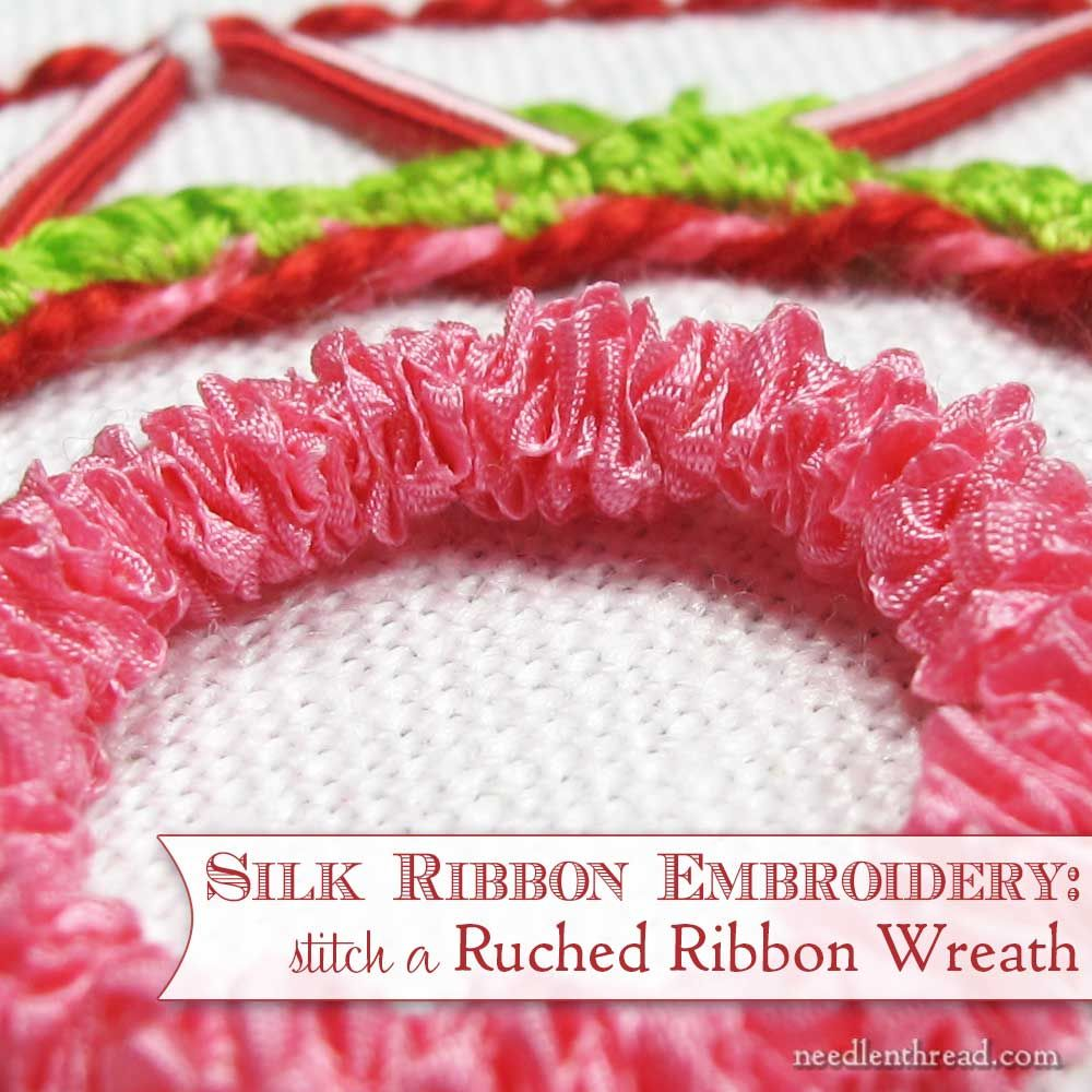 Photo of How to embroider a gathered silk ribbon wreath