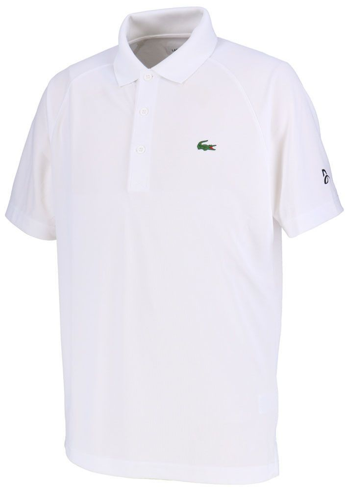 Lacoste Ultra Dry Polo Shirts White Novak Djokovic Tennis Clothing Dh3884 001 Lacoste Shirtstops Tennis Clothes Polo Shirt White Sports Polo Shirts
