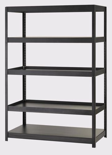 5 Shelf Industrial Steel Shelving With Contemporary Design At