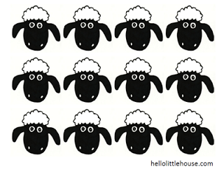 photograph regarding Sheep Printable identified as Pin upon Celebrations