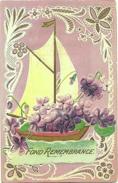 Antique Sailboat Images Victorian Postcard Images Fond Remembrance