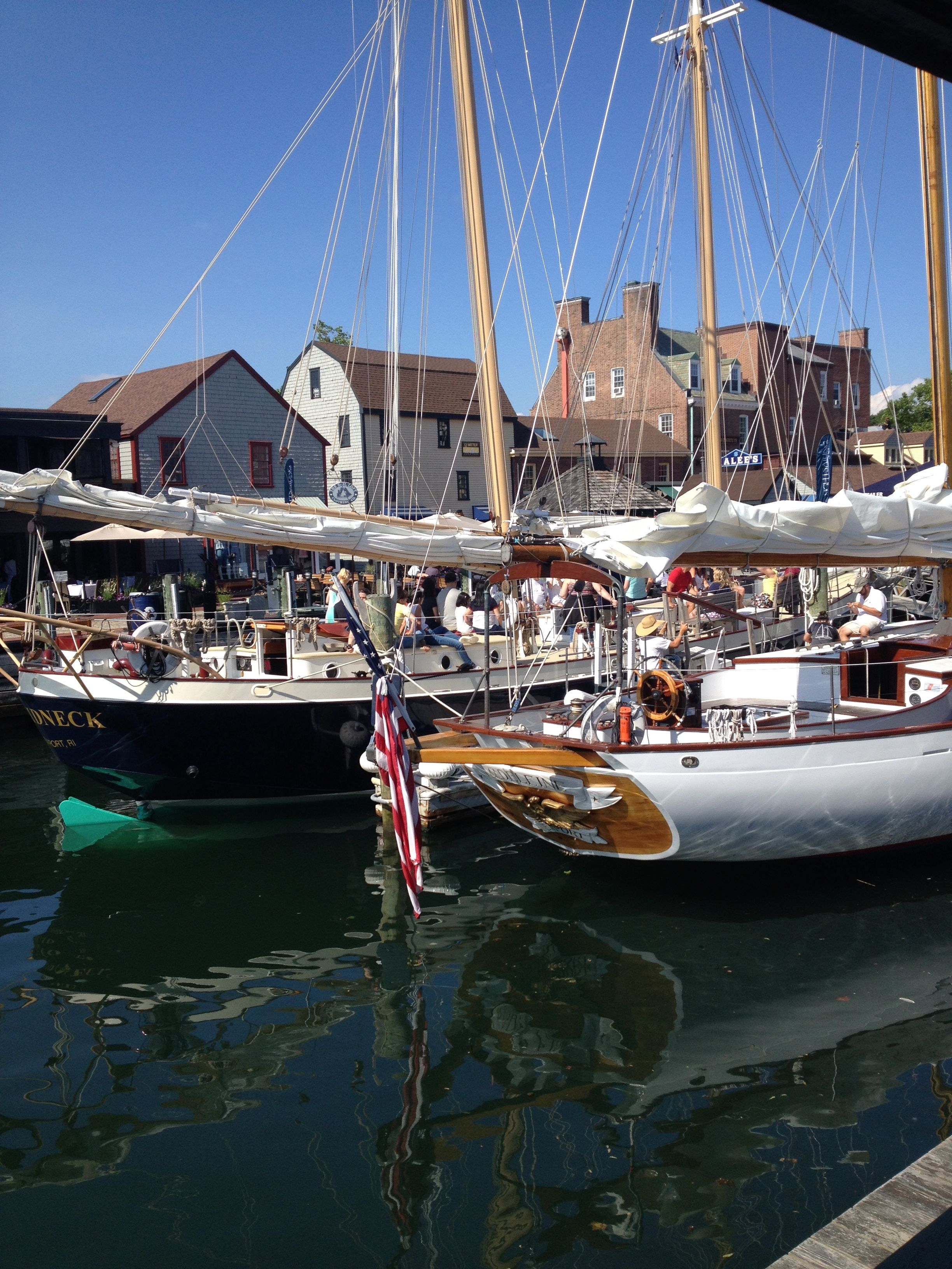 Beautiful #sailboats outside our #Newport store window