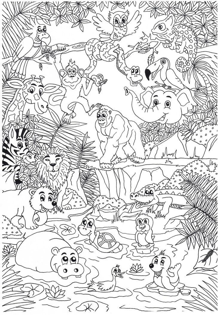 Coloring Web Page Coloring Zoo Coloring Pages Jungle Coloring Pages Zoo Animal Coloring Pages