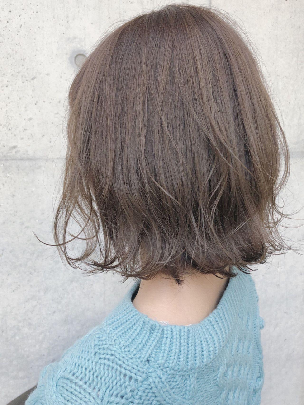 モカオリーブ ブリーチなしの透明感 トレンドヘア トレンド 髪型