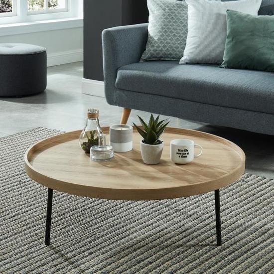 Table Basse Industrielle Pour Un Salon Concu Suivant Les Tendances