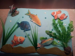 La patisserie de Brunette: Gâteau aquarium