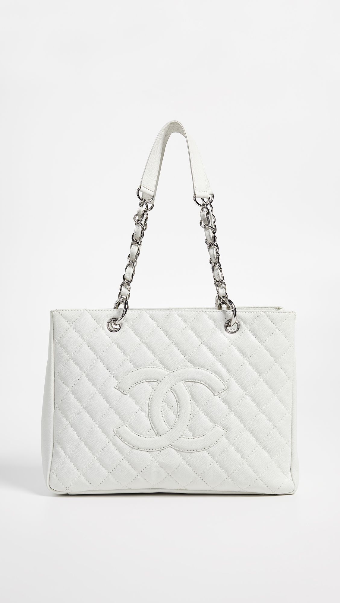 6bad992b56d3 What Goes Around Comes Around Chanel White Caviar Grand Shopper Tote ...