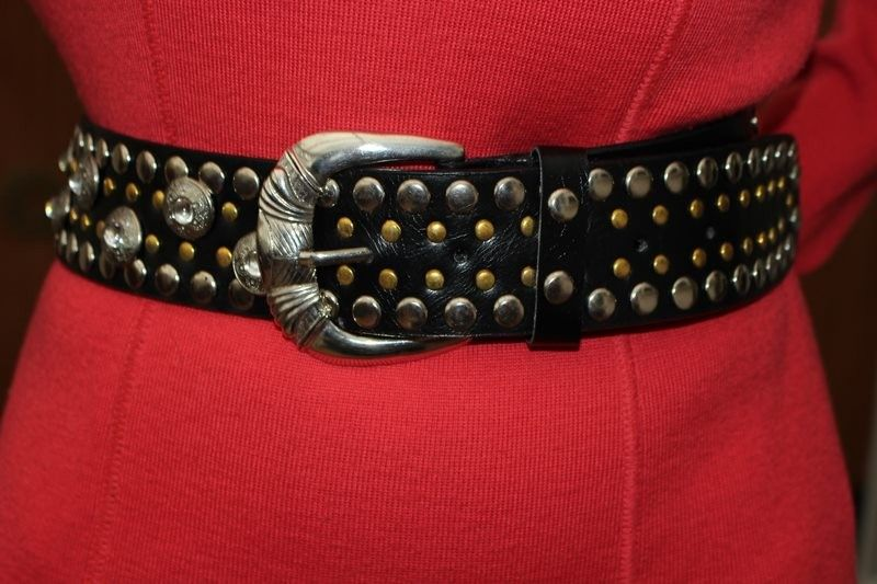 ceintures noir argente dore T90 cuir hippie chic