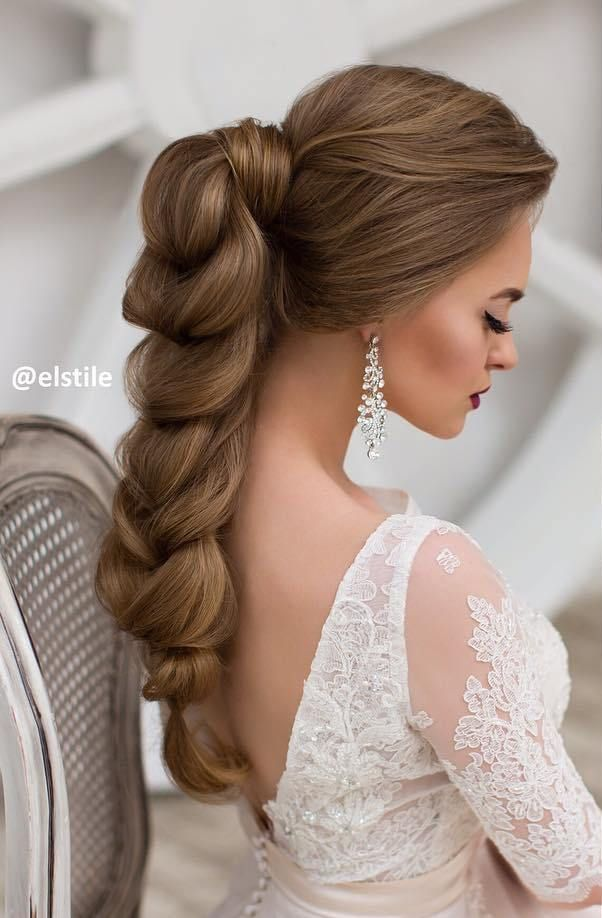 Stunning Braided Wedding Hairstyle For Long Hair