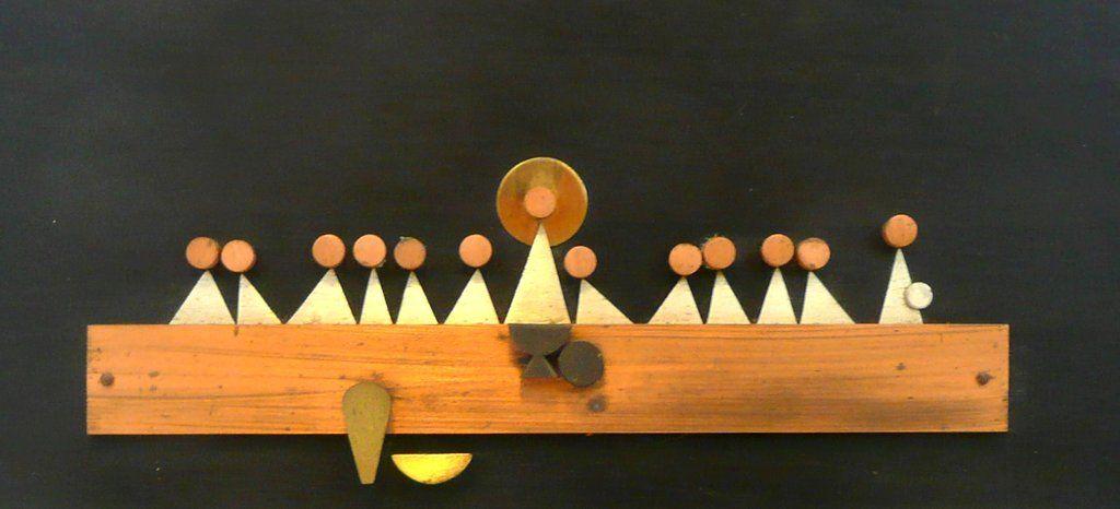Talleres Monasticos Mexico Modernist Last Supper Wall Art Plaque Sculpture