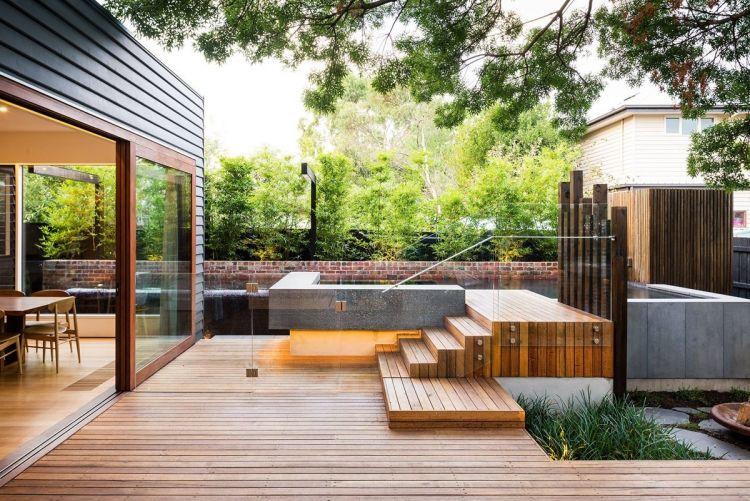 Poolumrandung aus Holz oder WPC - Tipps und Ideen Garten - ideen garten modern