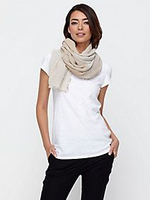 EF Infinity Scarf in Undyed Organic Cotton Yak Sparkle