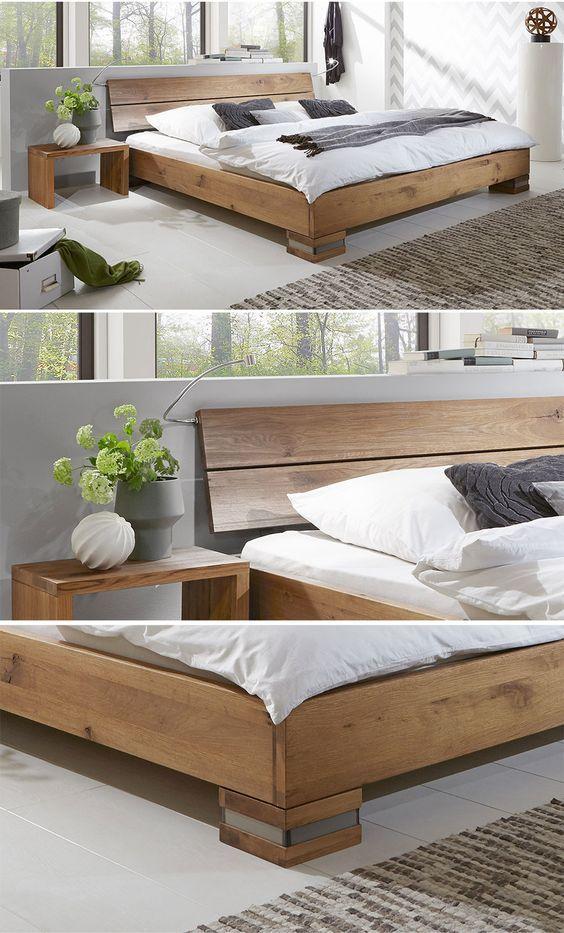 Rustikales Massivholzbett aus Wildeichenholz Perfekt verarbeitet - schlafzimmer set 180x200