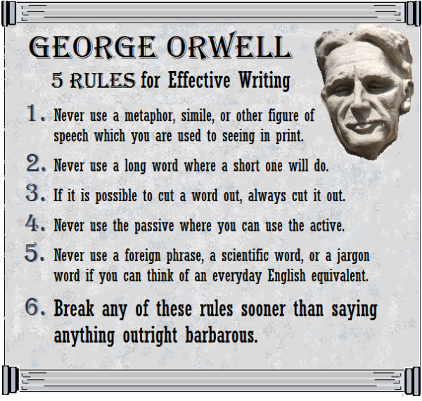 Saturday Just Saying 10 6 2012 Orwell Quote George Author Quotes Essay On Writing