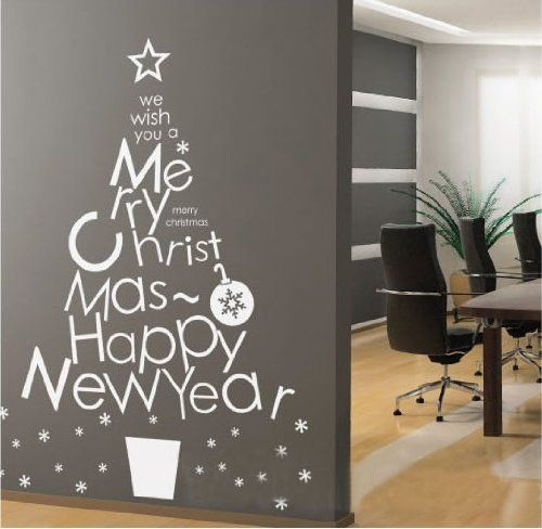 Instylewall Home Decor Vinyl Wall Sticker Letter Christmas Tree