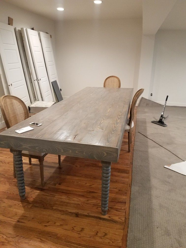 10 Ft Custom Table In Grey With Images Custom Table Home