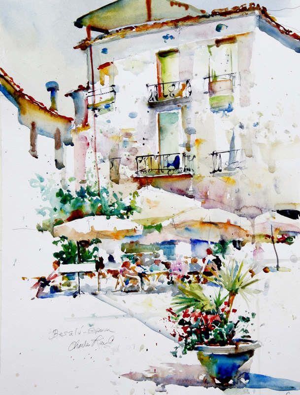 Urban watercolor, Italy, Charles Reid