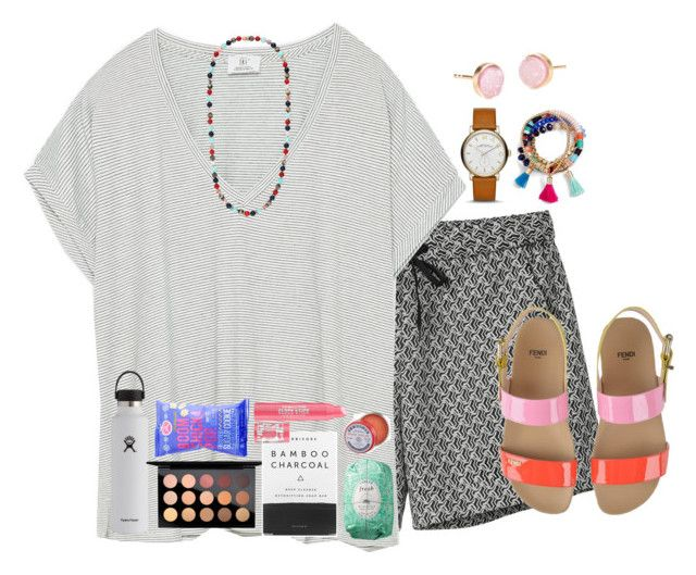 """""""How was your day?"""" by livnewell ❤ liked on Polyvore featuring Monki, Zara, Hydro Flask, MAC Cosmetics, Herbivore, Soap & Glory, Fresh, C.O. Bigelow, Pernille Corydon and Marc Jacobs"""