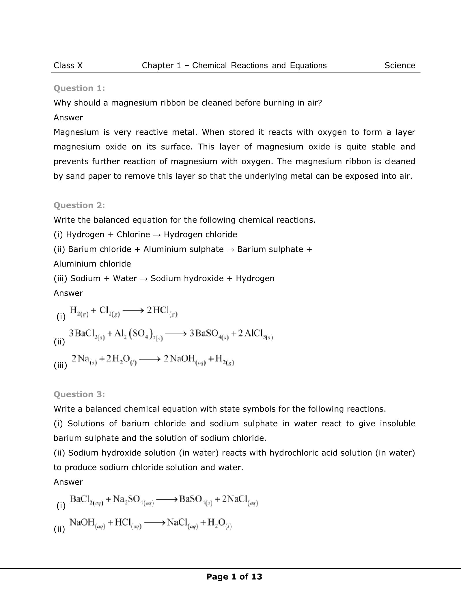 Get Here Ncert Solutions For Class 10 Science Chapter 1 Ncert