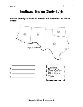 Blank Map Southwest Region Us Blank Map Of The United States - South western us map blank