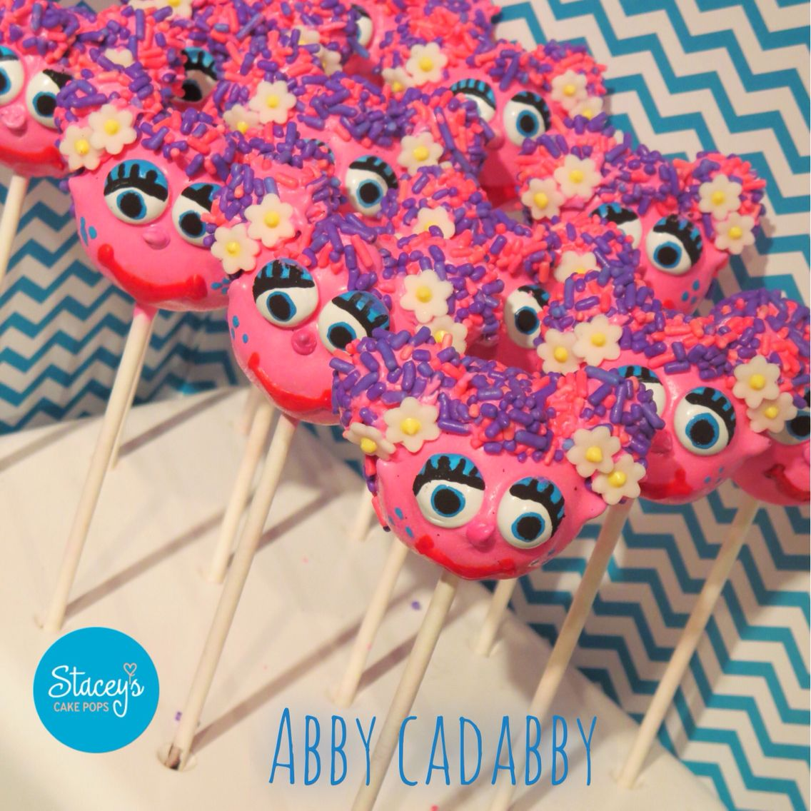 Abby Cadabby Cake Pops Staceys Cake Pops Pinterest Cake Pop - Elmo and abby birthday cake