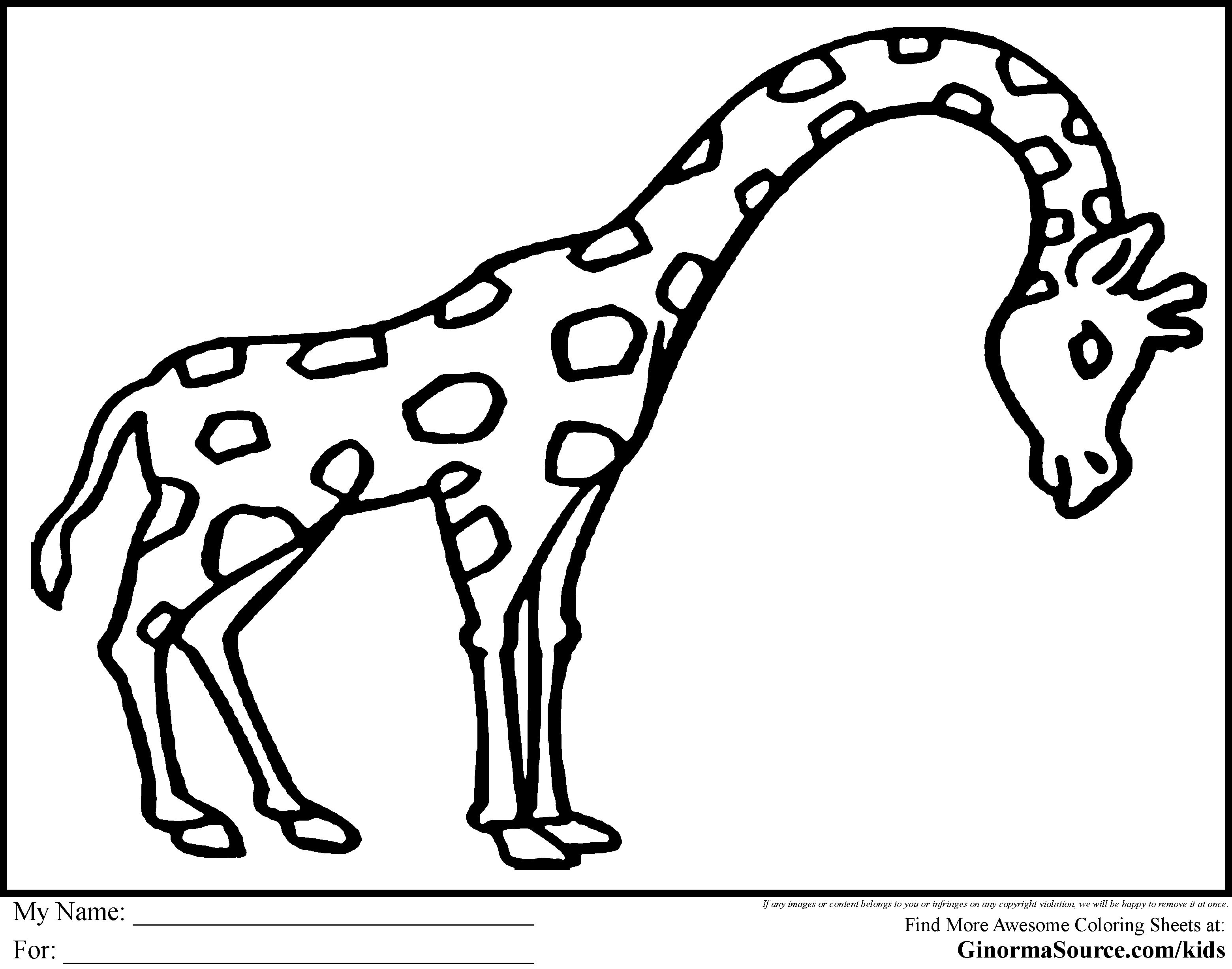 Animals Images For Coloring