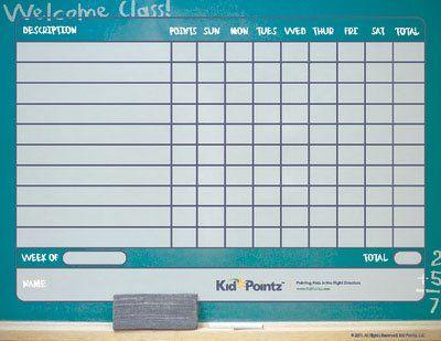 Kids Printable Chart Classroom-School Kid Pointz Crockpot - free printable reward charts for teachers