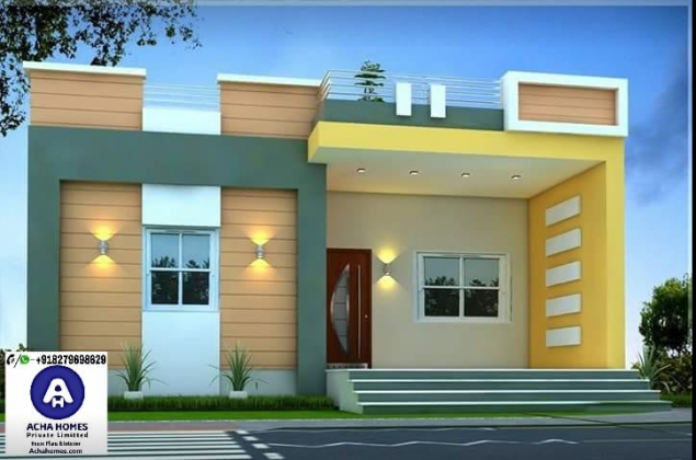800 Sqft Single Floor Modern Home Design Bunglows In 2019