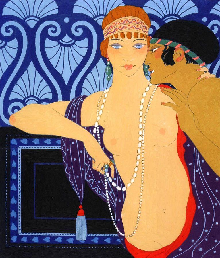 Gerda Wegener Erotic | Whispers Art Deco Painting | art ...