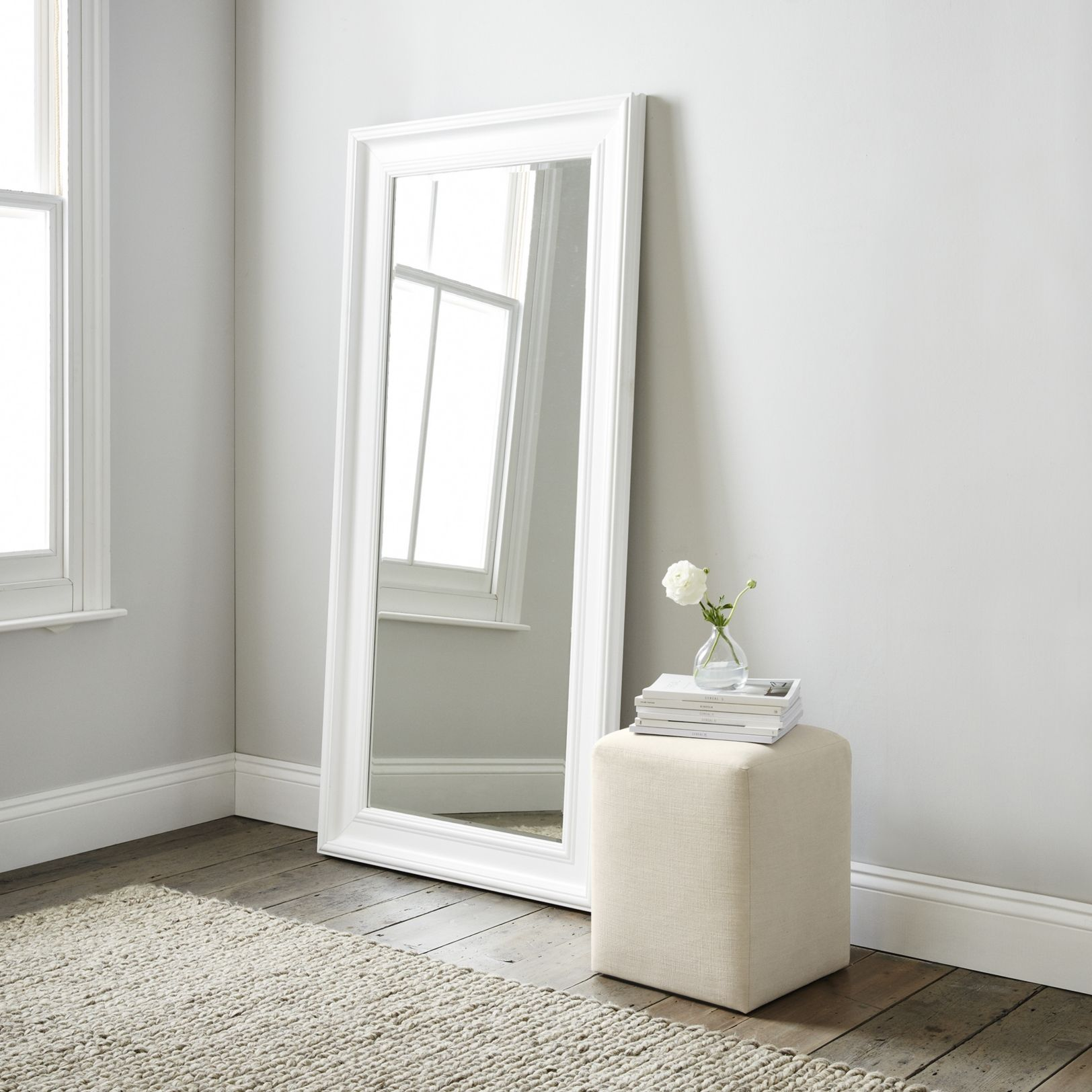 Portland Floor Mirror Mirrors The White Company (With