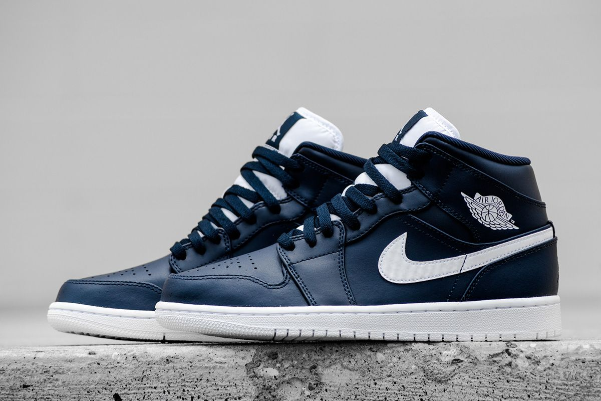 Nike air force 1 mid premium thanksgiving sold out - Air Jordan 1 Mid Obsidian White Eu Kicks Sneaker Magazine