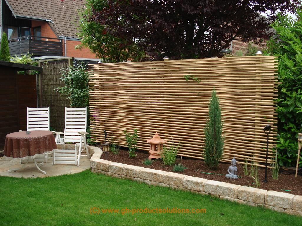 sichtschutz garten garden screen ideas features. Black Bedroom Furniture Sets. Home Design Ideas