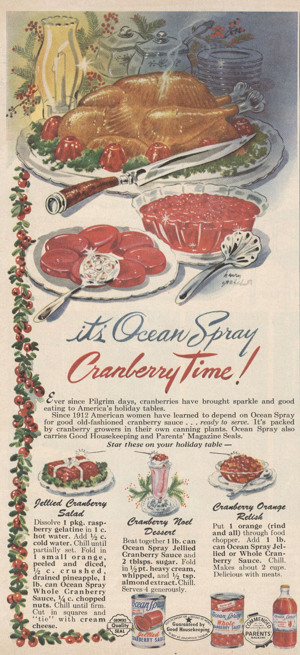 What are some recipes for relish using Ocean Spray cranberries?