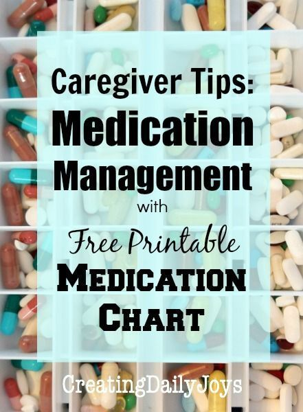 Medication Management Tips for Caregivers with Free Printable Medication Chart   Creating Daily Joys
