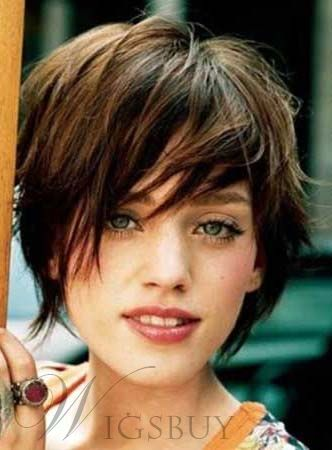 Lovely Carefree Short Straight Capless Synthetic Wig 10 Inches